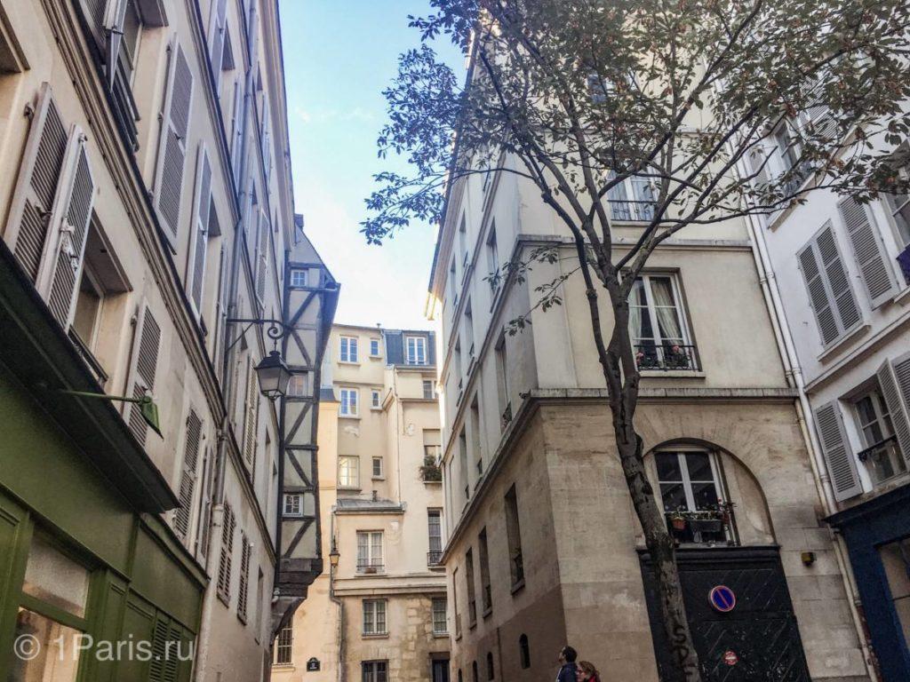 Фахверковые дома в Париже