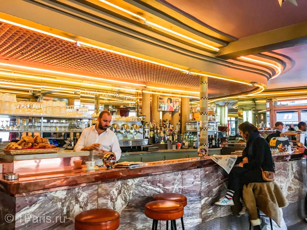Цены в кафе и ресторанах Парижа