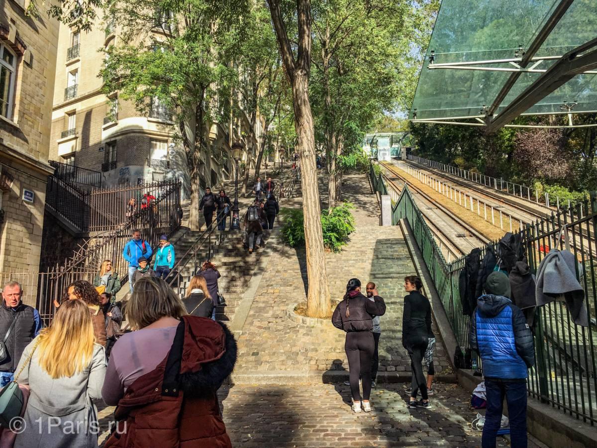 Фуникулёр к базилике Сакре-Кер