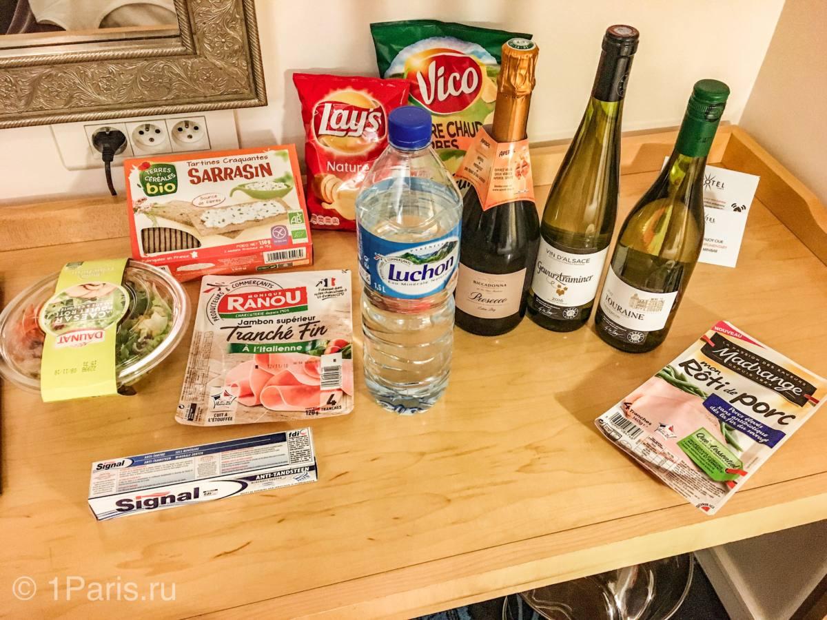 Еда из супермаркета Intermarche