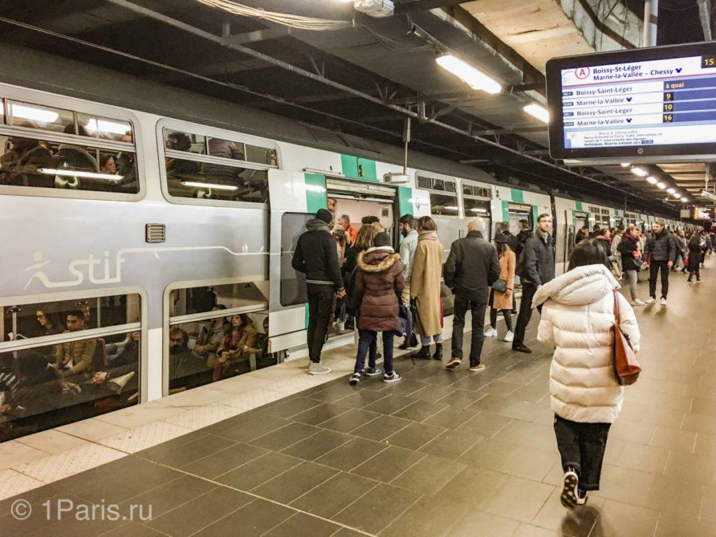 Двухэтажный поезд RER