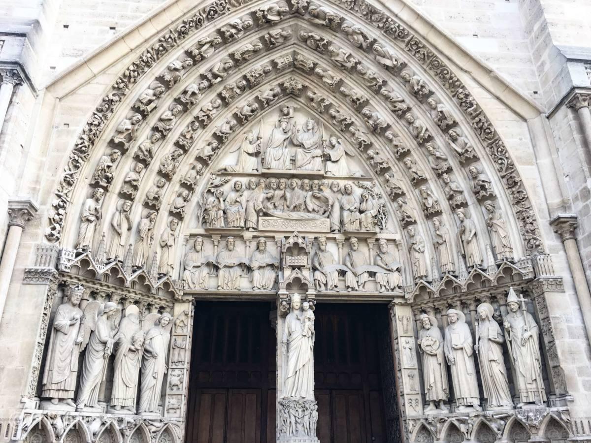 Главный фасад Собора Парижской Богоматери