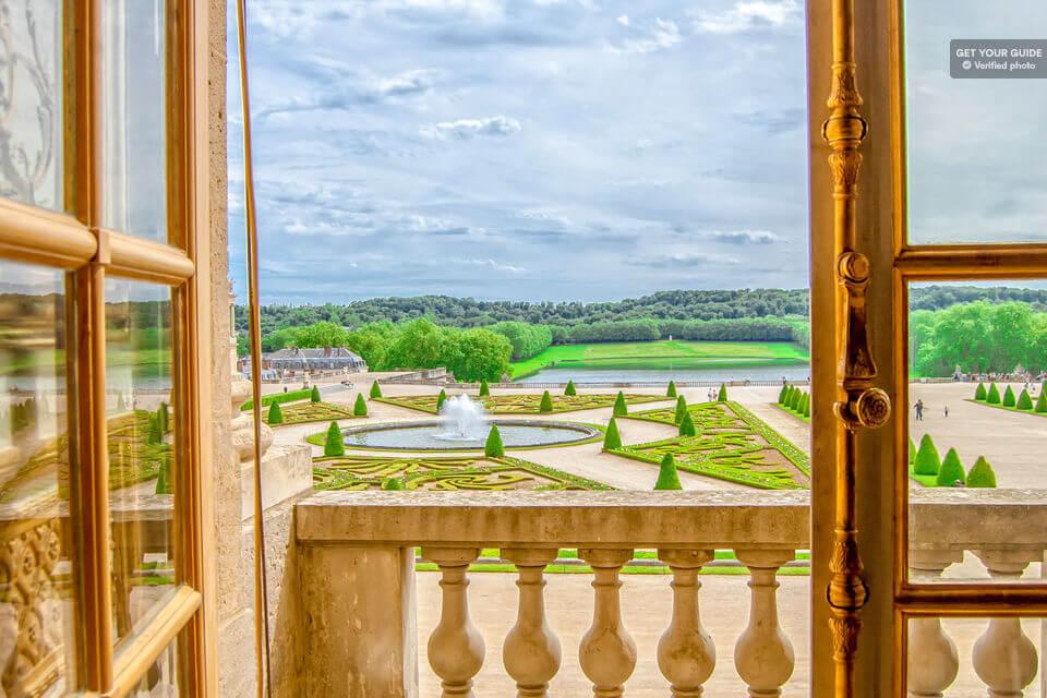 Вид на Версальский парк