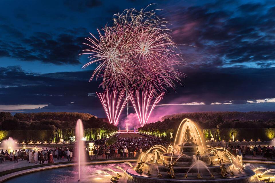 Вечернее шоу фонтанов в Версале
