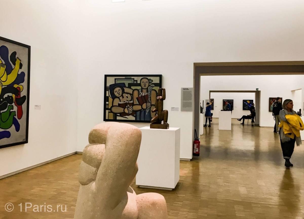 Картины в музее современного искусства в Париже
