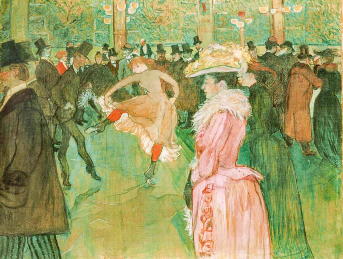 """Танец в Мулен Руж"", 1890. Анри де Тулуз-Лотрек"