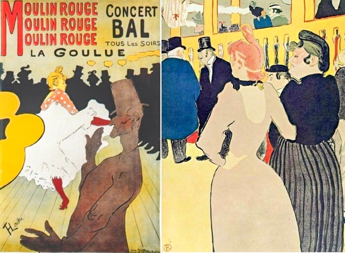 Мулен Руж, Ла Гулю, 1891. Анри де Тулуз-Лотрек