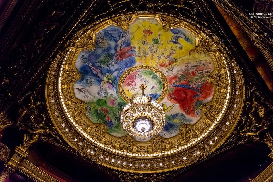 Плафон Оперы Гарнье, расписанный Марком Шагалом