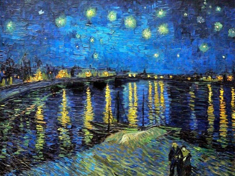 """Винсент Ван Гог """"Звездная ночь над Роной"""" 1888 год."""