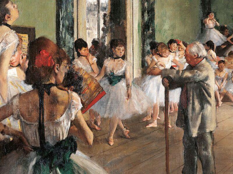 """Эдгар Дега """"Танцевальный класс"""" 1874 год."""