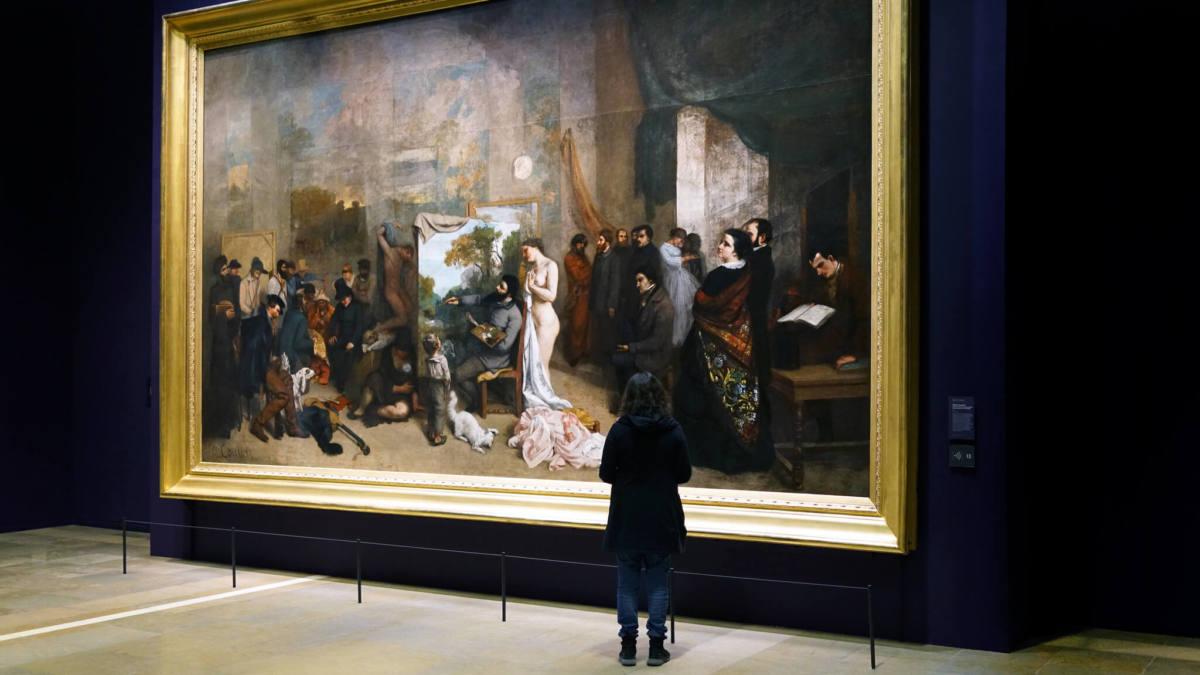 """Гюстав Курбе """"Мастерская художника"""" 1855 год."""
